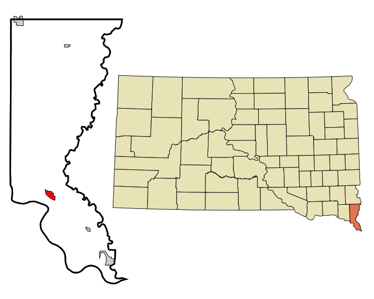 750px-Union_County_South_Dakota_Incorporated_and_Unincorporated_areas_Elk_Point_Highlighted.svg